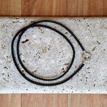 Pfeifenband mit Sterlingsilber geflochten Nappaleder braun