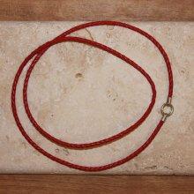 Pfeifenband rot mit Sterlingsilber