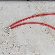 Pfeifenband Nappaleder rot