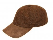 Baseball Cap Tweed braun