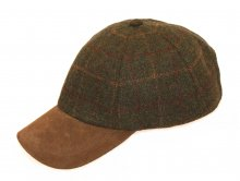 Baseball Cap Tweed grün