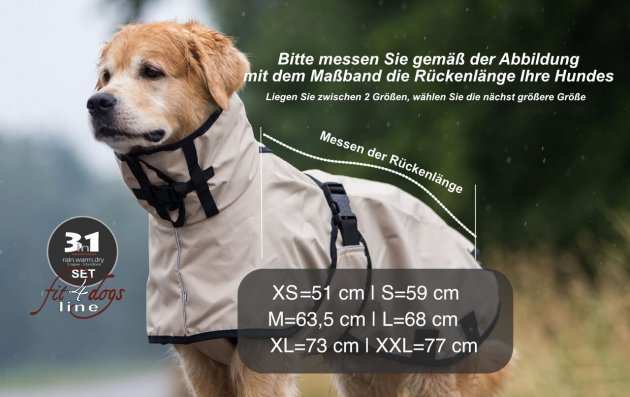 """3in1"" multifunktionaler Hundemantel"