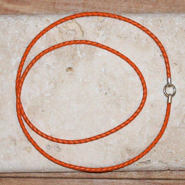 Pfeifenband orange mit Sterlingsilber