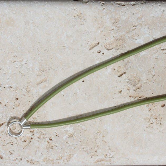 Pfeifenband Nappaleder oliv