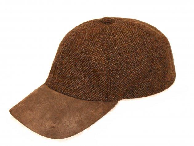 Baseball Cap Tweed braun